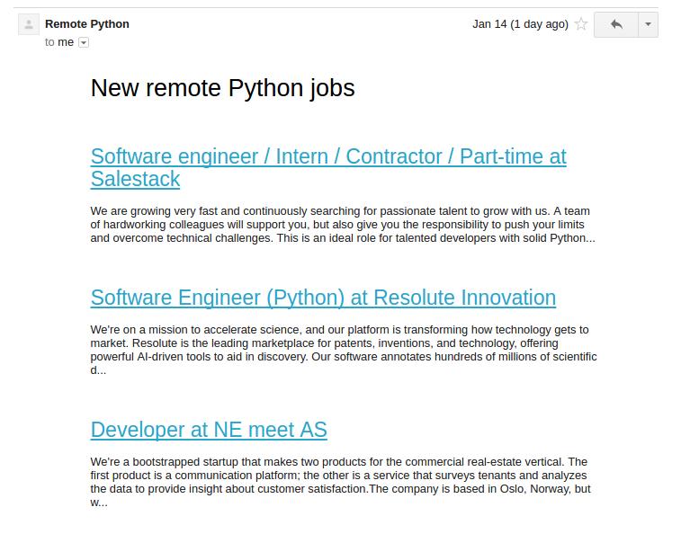 Remote Python - Daily Job Alerts